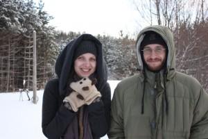Jordan and I at a winter retreat[