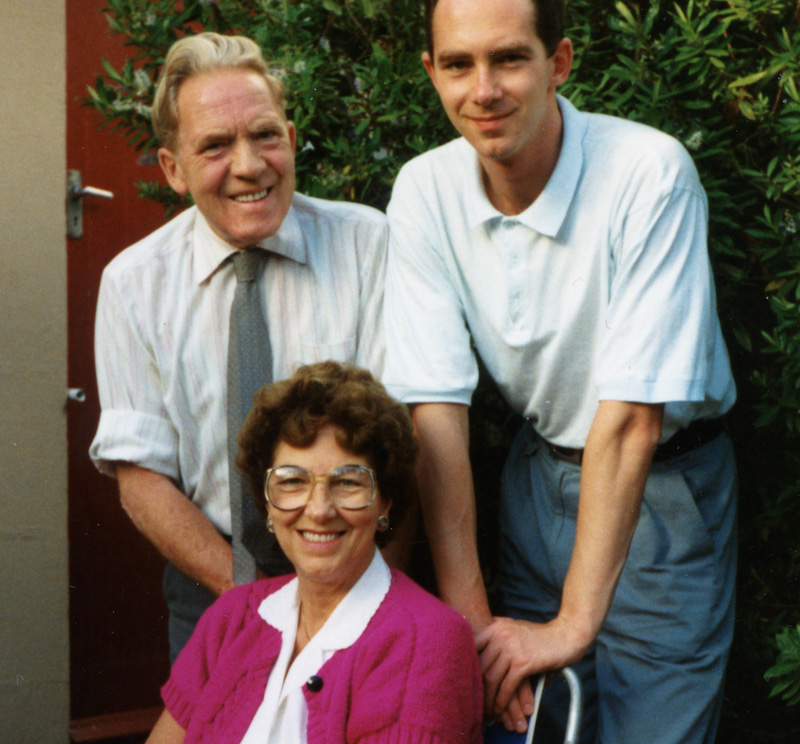 Mark with His Parents in 1991