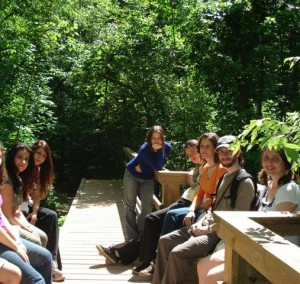 Some of us that were on a walk on a popular nature trail near the city in 2010, when I first started training to become a teacher.