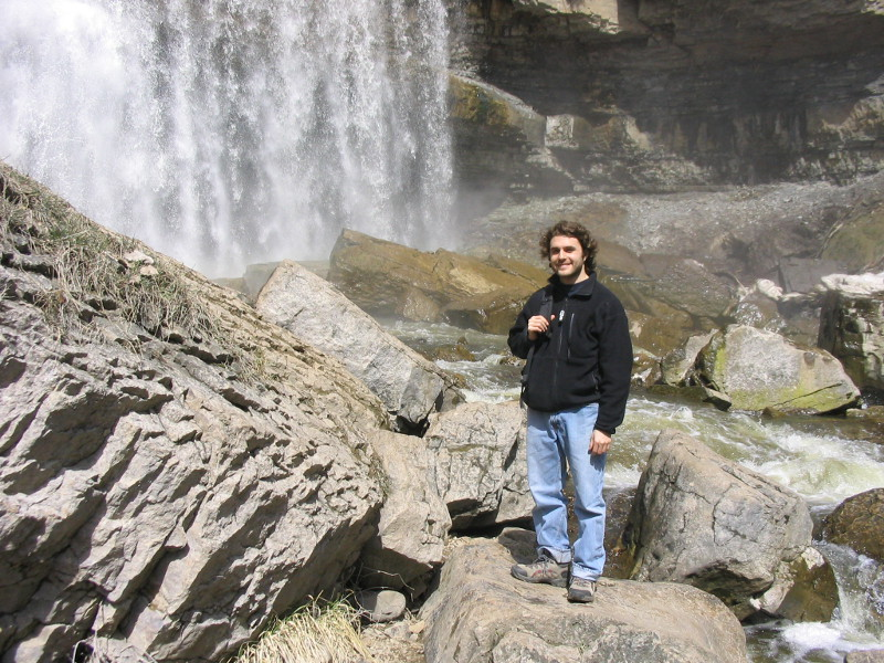 This picture is from April 2006. A group of us went hiking near Toronto and explored near this waterfall.